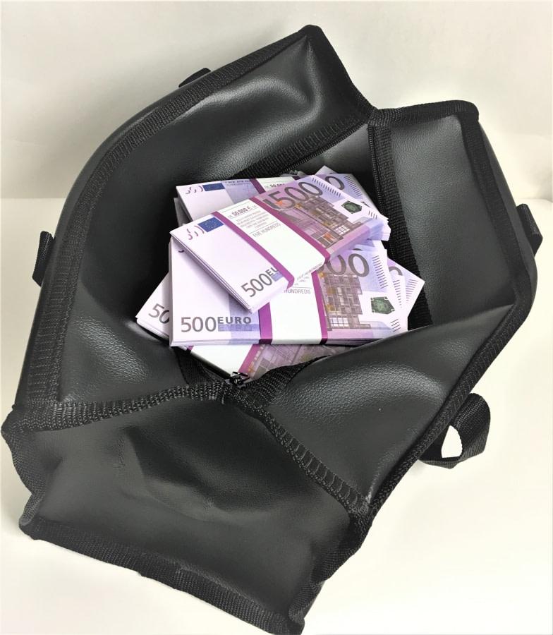 Sac d'argent 500 euros (100 paquets)