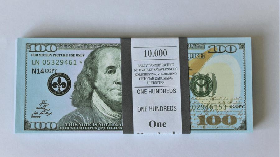 Bloc-notes de faux billets de 100 nouveaux dollars américains