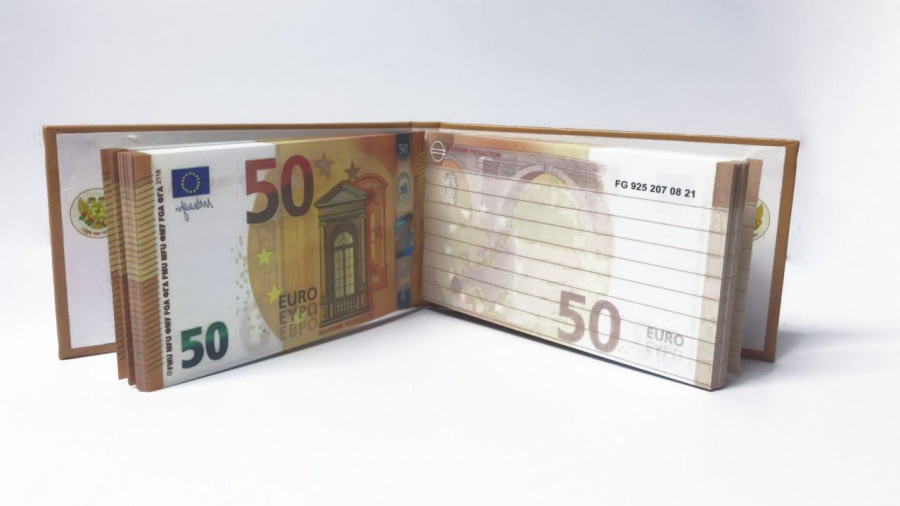 acheter 50 Euro Bloc-notes détachable 3