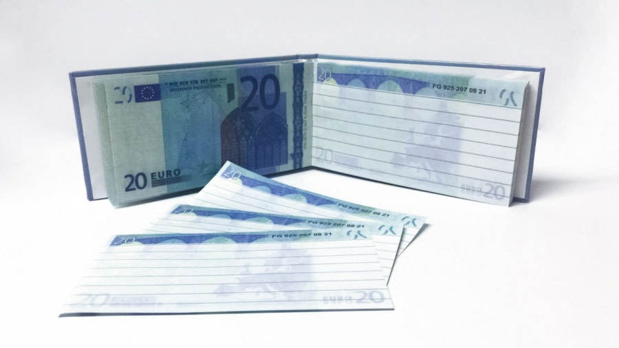 acheter 20 Euro Bloc-notes détachable 2