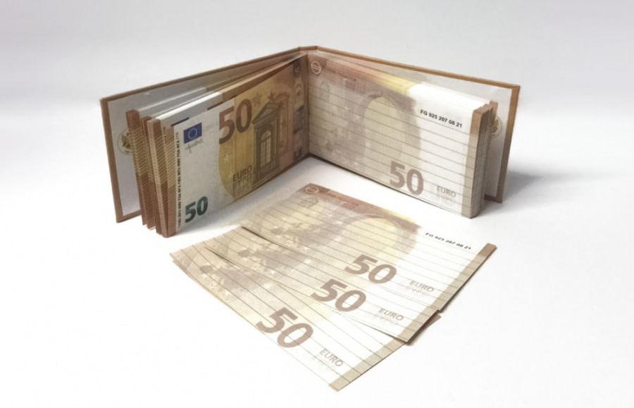 acheter 50 Euro Bloc-notes détachable 1