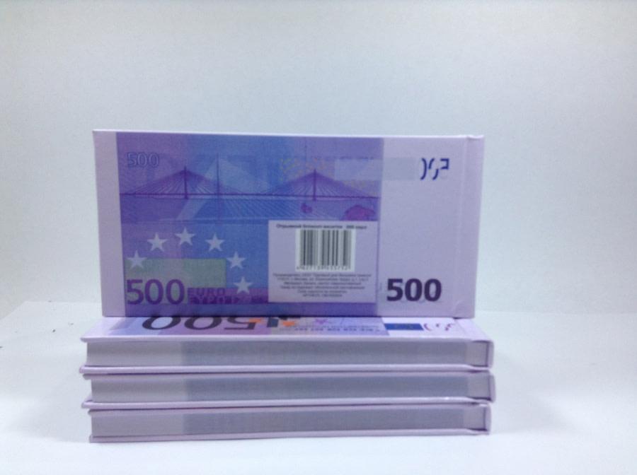 Bloc-notes détachable de 500 euros