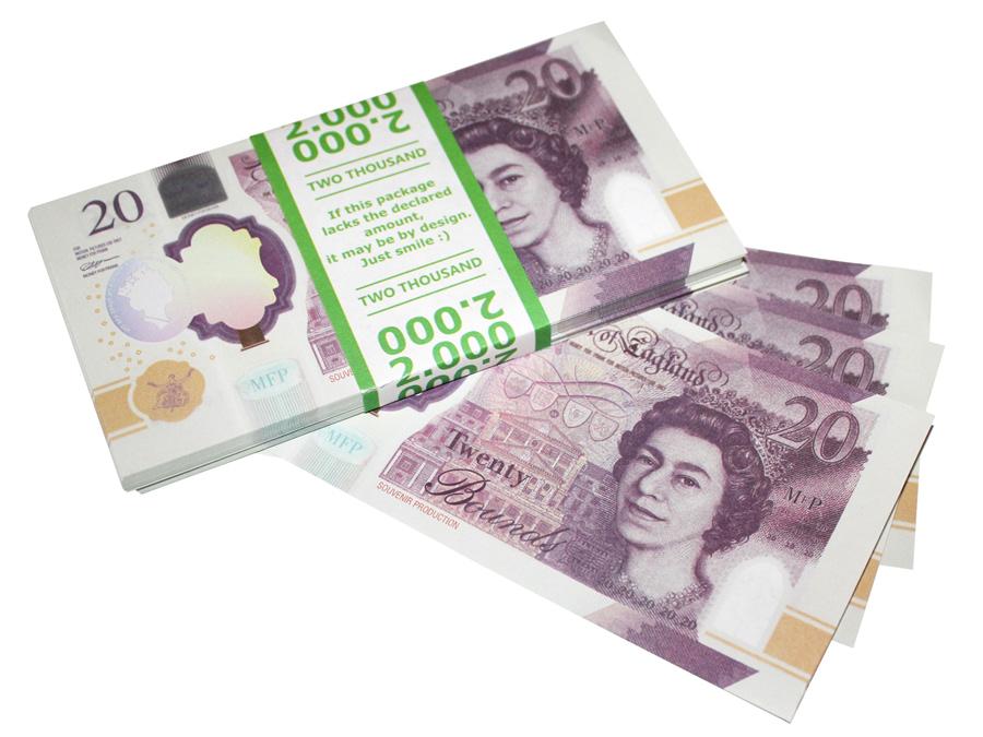 NOUVELLE 20 livres sterling faux billets