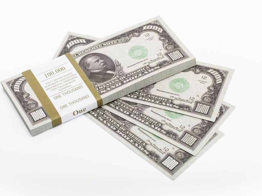 1000 dollar américain faux billets