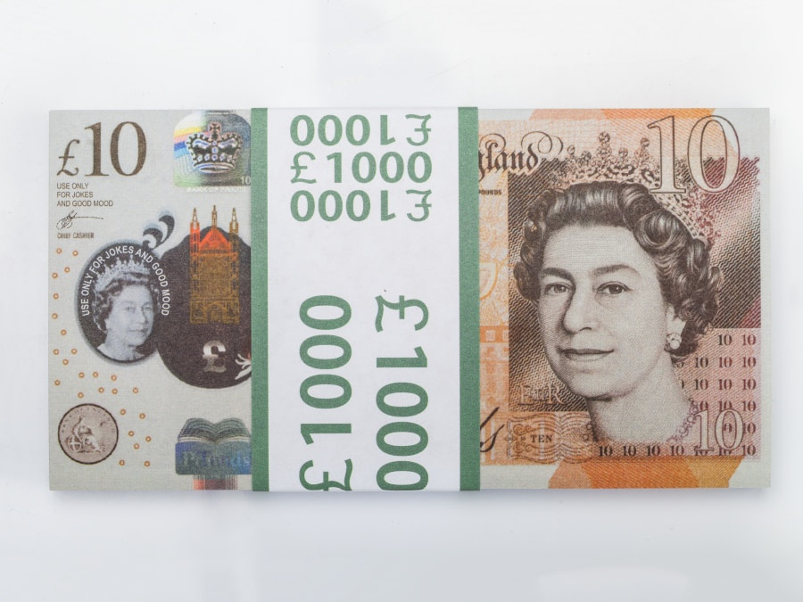 10 livres sterling faux billets