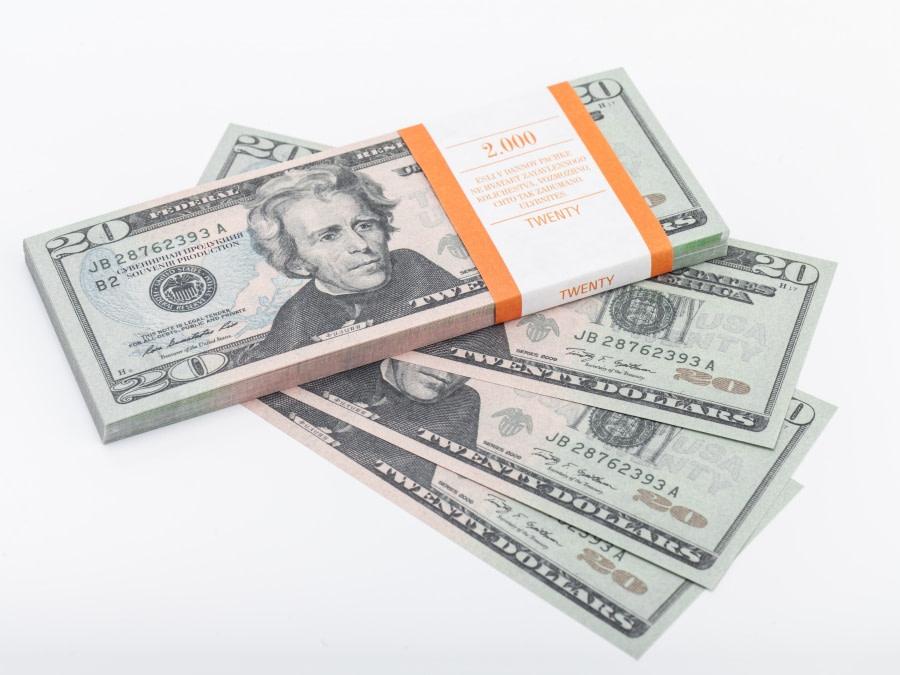 20 dollar américain faux billets