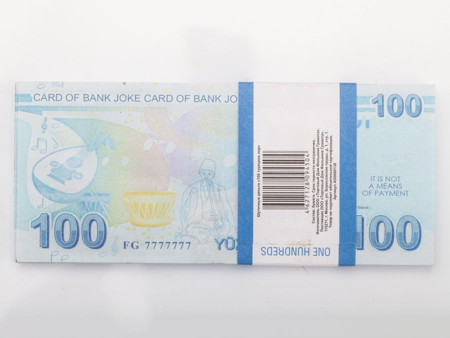 100 lire turque faux billets