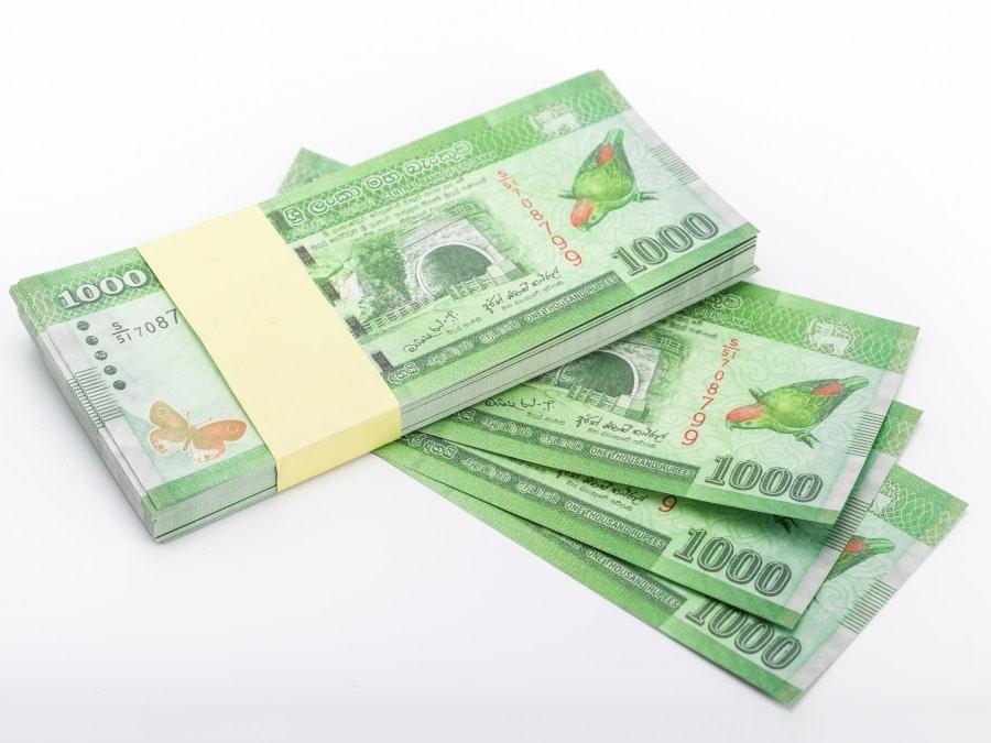 1000 Sri Lanka rupees faux billets