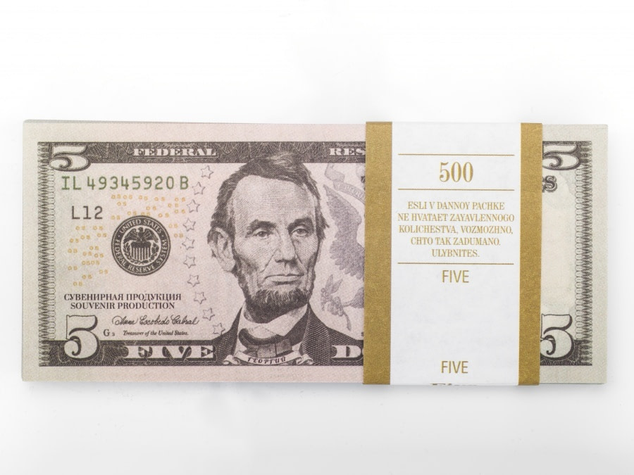 5 dollar américain faux billets