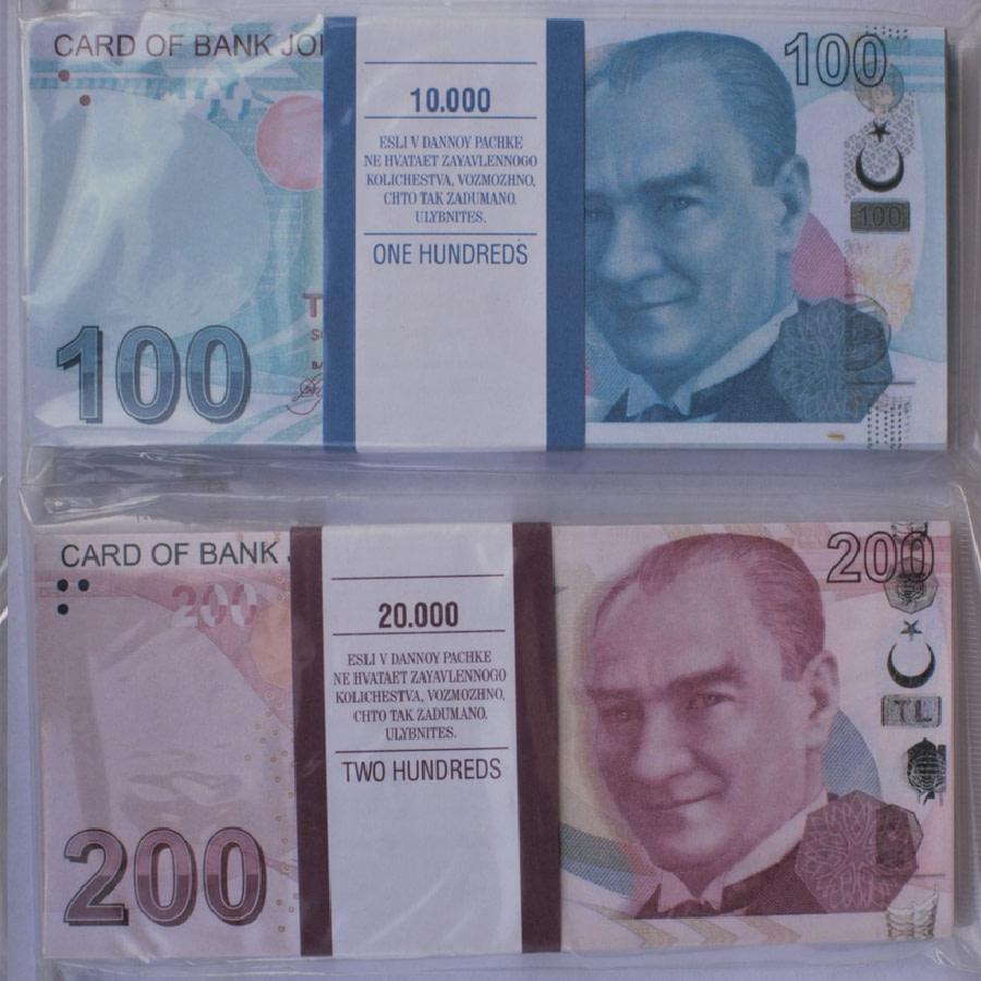 Kit de faux billets Lires turques 100, 200