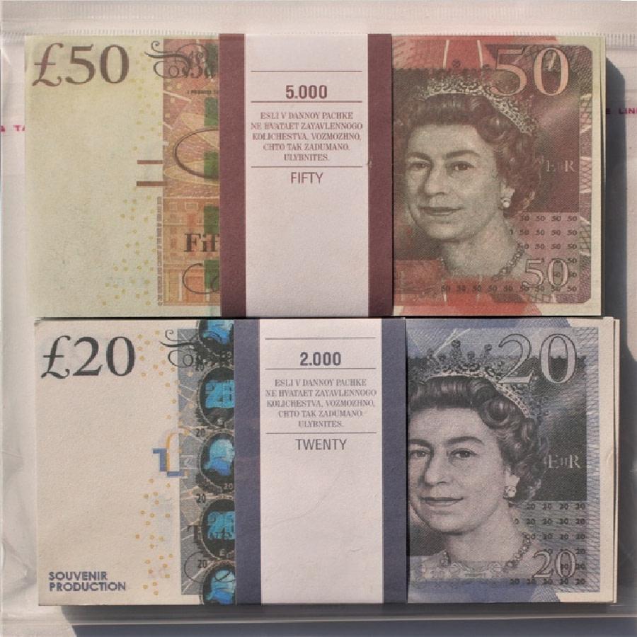 Kit de faux billets Livres britanniques 20, 50